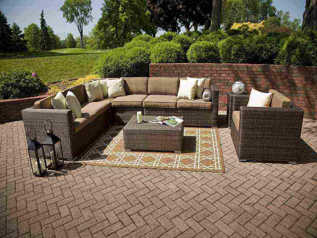Outdoor Wicker Sectional Patio Furniture Decor