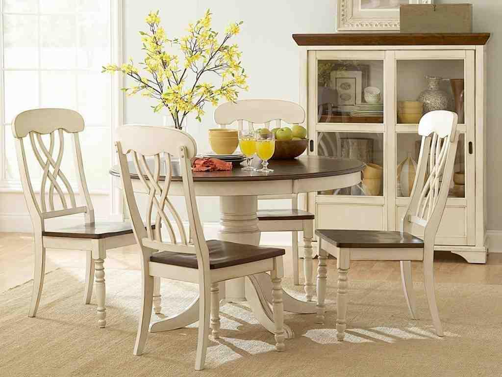 Antique Round White Kitchen Table and Chairs - Decor IdeasDecor Ideas