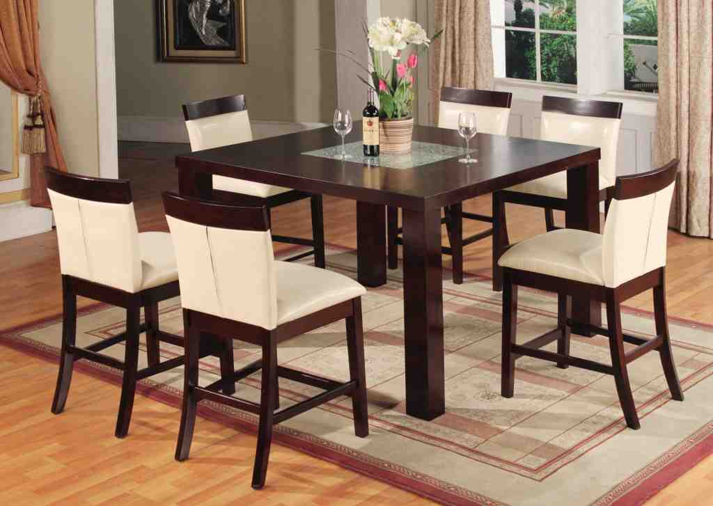 Bar height kitchen table and chairs decor ideasdecor ideas for Kitchen table and chairs set