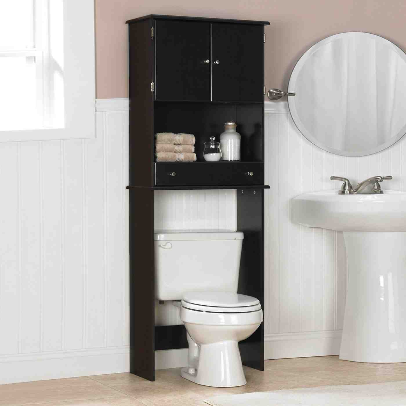 Black bathroom storage cabinet decor ideasdecor ideas for Toilet furniture cabinet
