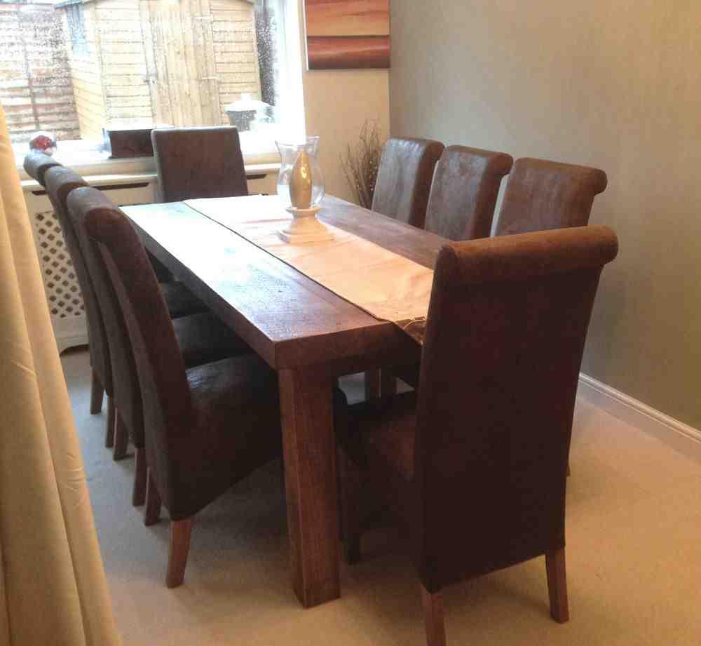 Brown Leather Dining Chairs Decor IdeasDecor Ideas