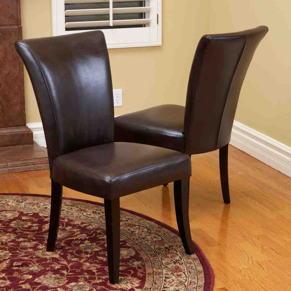 Brown leather dining room chairs decor ideasdecor ideas for Leather dining room sets