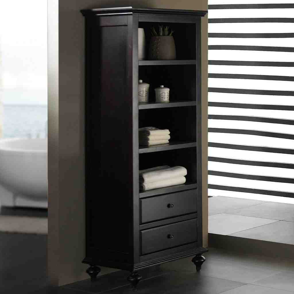 Espresso Bathroom Storage Cabinet
