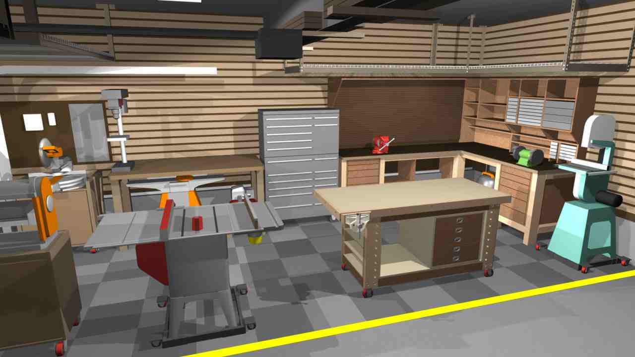 Simple Garage Shop Design Ideas Placement