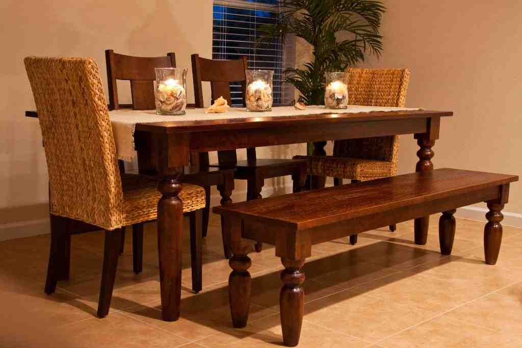 Kitchen table with bench and chairs decor ideasdecor ideas for Kitchen table sets with bench