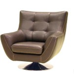 Leather Swivel Club Chair
