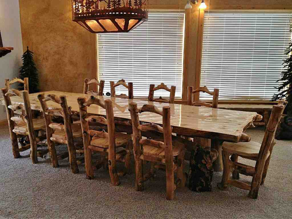 Log Dining Room Tables Log Log Kitchen Table And Chairs 1024x768 Home Log Cabin Dining