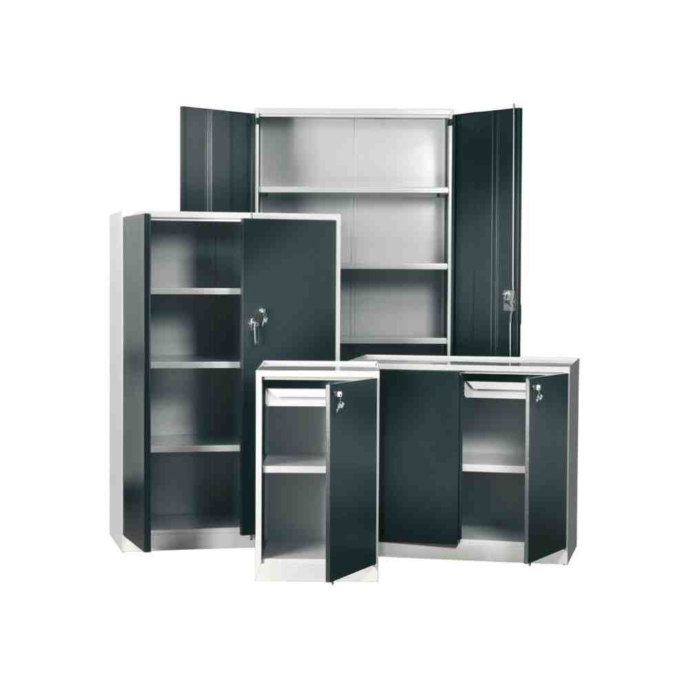 Metal storage cabinets with doors and shelves decor for Metal cabinet doors kitchen