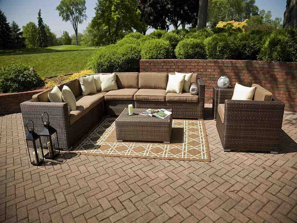 Outdoor resin wicker sectional patio furniture decor ideasdecor ideas Plastic wicker patio furniture