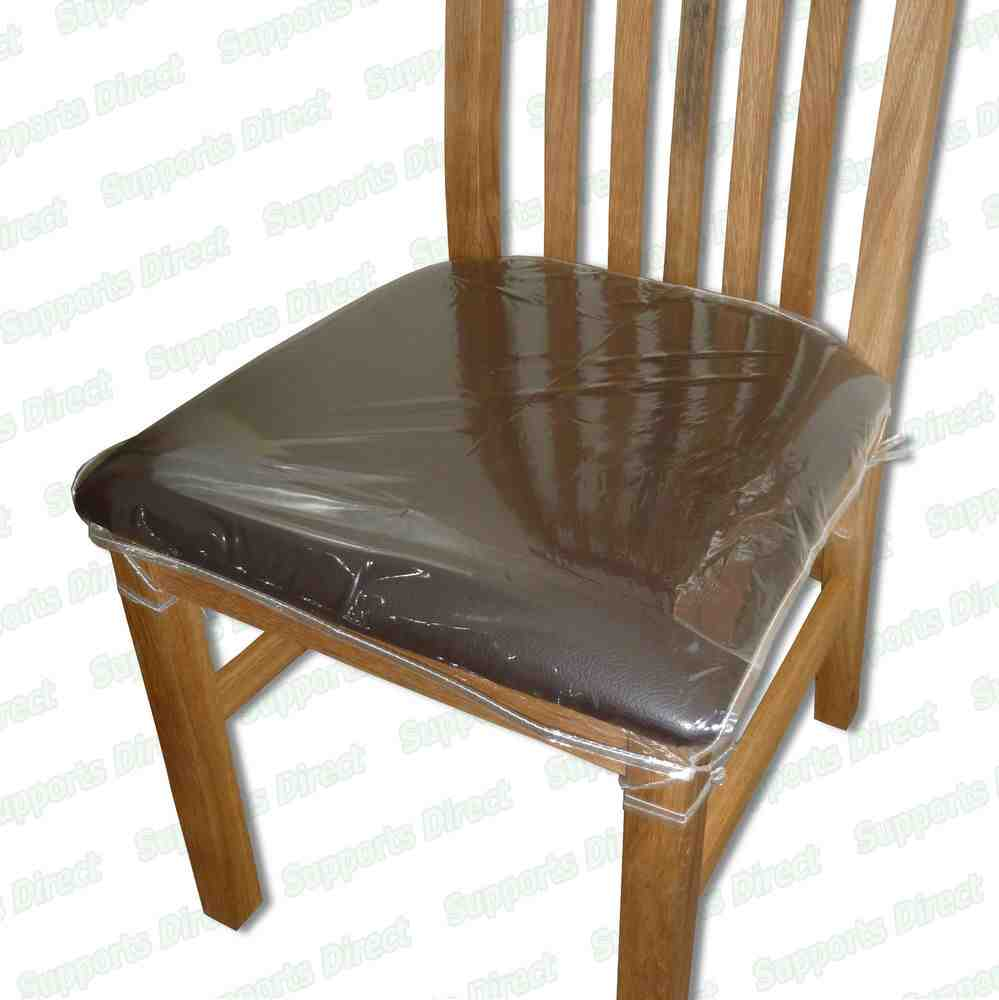 Plastic seat covers for dining room chairs decor for Plastic furniture covers indoor