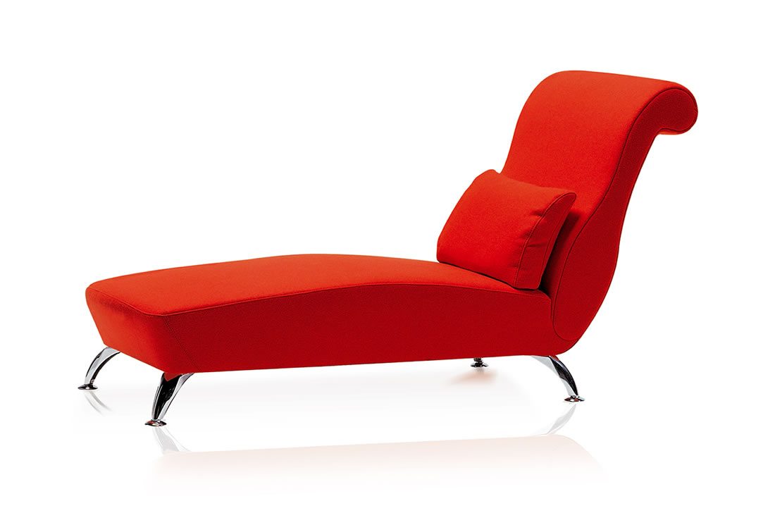 Image gallery red chaise for Chaise lounge bench