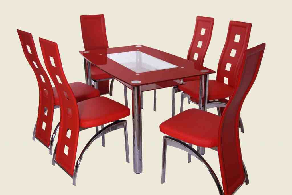 Red Country Kitchen Chairs