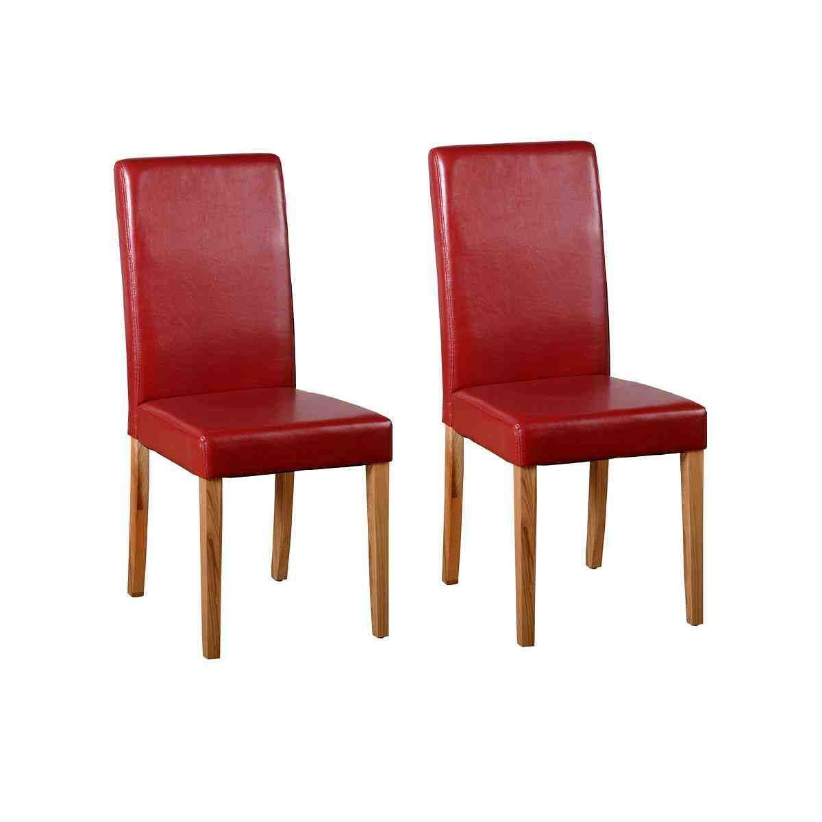 Red leather dining chairs decor ideasdecor ideas for Red dining room chairs