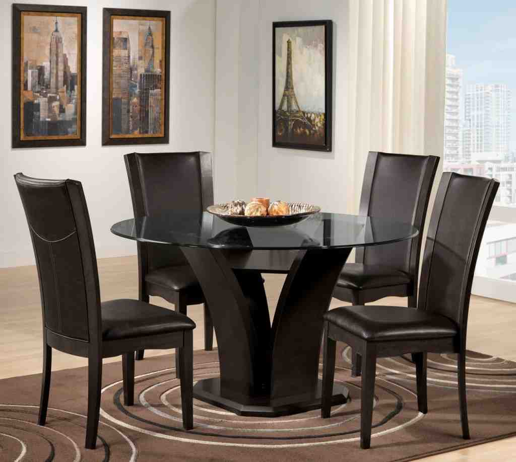 Round Black Kitchen Table and Chairs