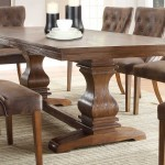 Rustic Leather Dining Chairs