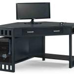Black Corner Computer Desk