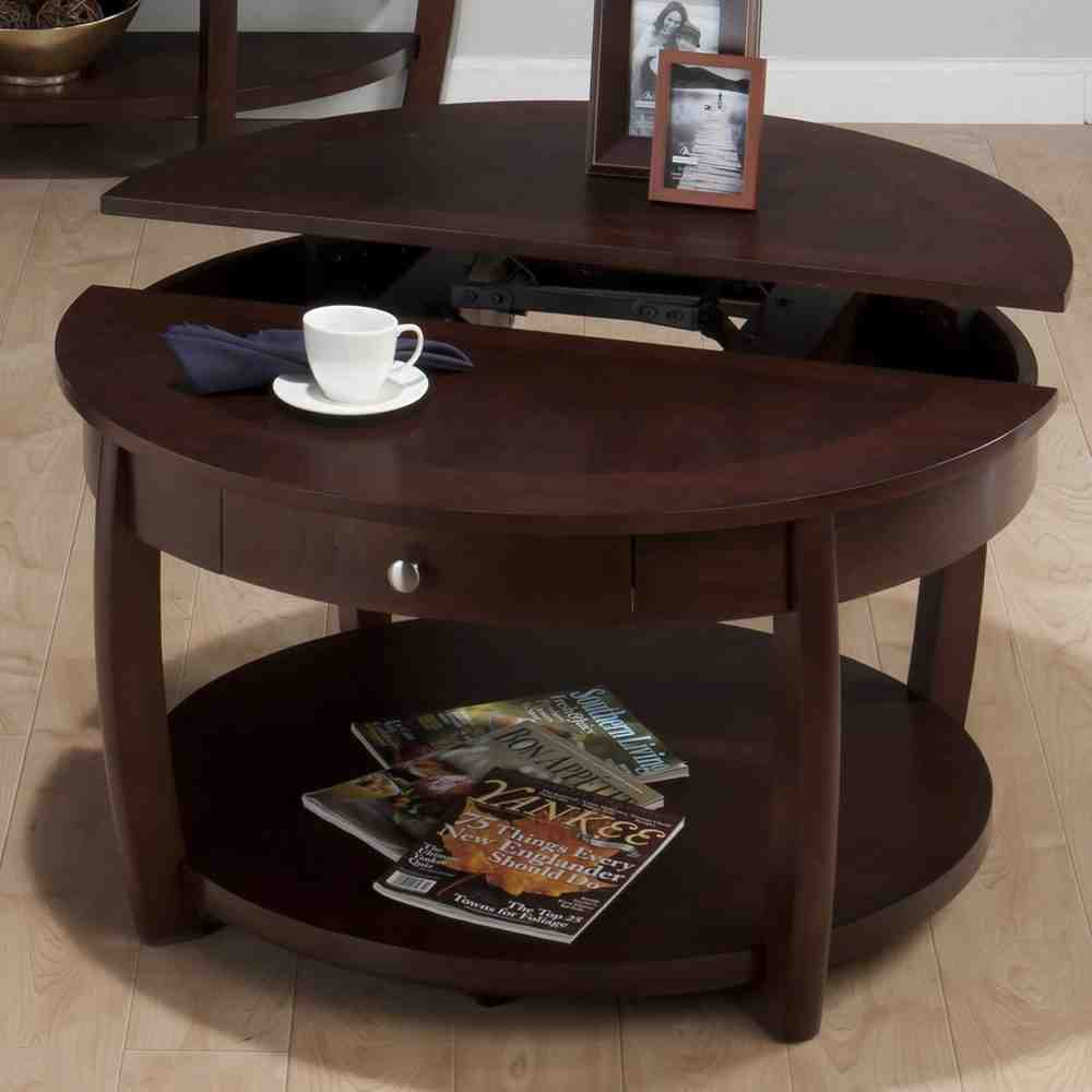 Computer coffee table decor ideasdecor ideas for Couchtisch holz rund oval