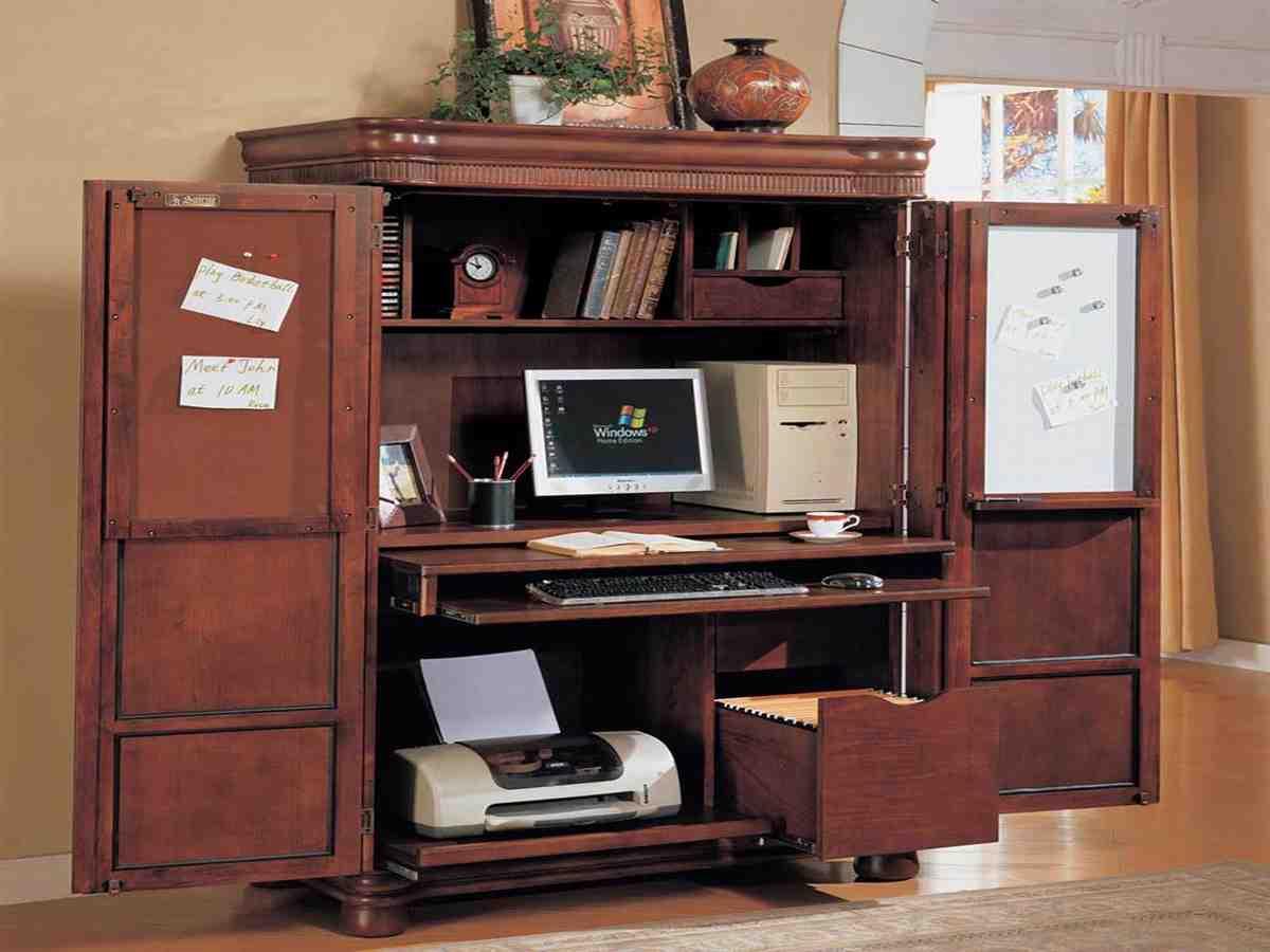 Corner Armoire Computer Desk - Decor IdeasDecor Ideas