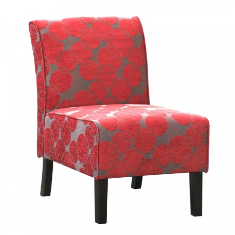 Red Accent Chairs With Arms