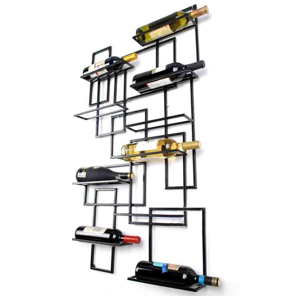 wall mounted wine glass rack shelf decor ideasdecor ideas. Black Bedroom Furniture Sets. Home Design Ideas