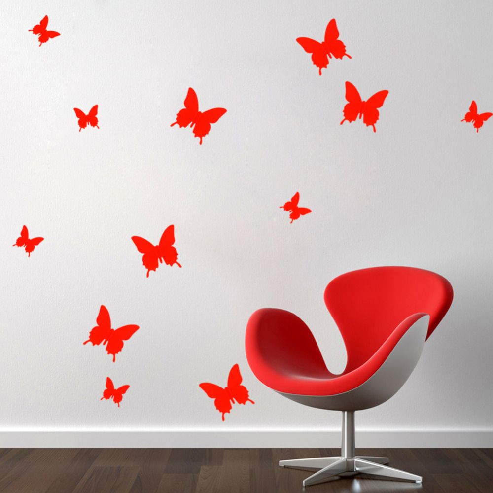 Diy paper butterfly wall decor decor ideasdecor ideas for How to make paper butterflies for wall