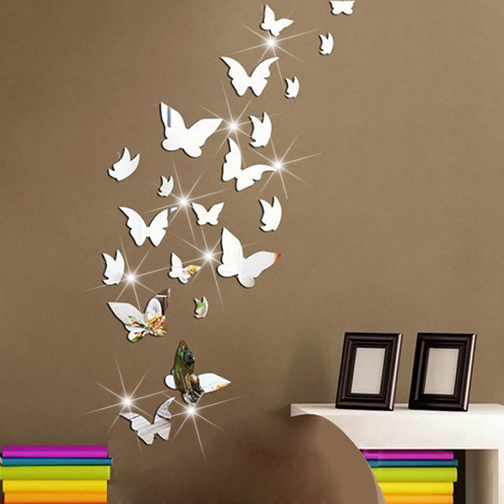 Mirror butterfly wall decor decor ideasdecor ideas - Images of wall decoration ...