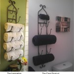 Bathroom Towel Shelves Wall Mounted