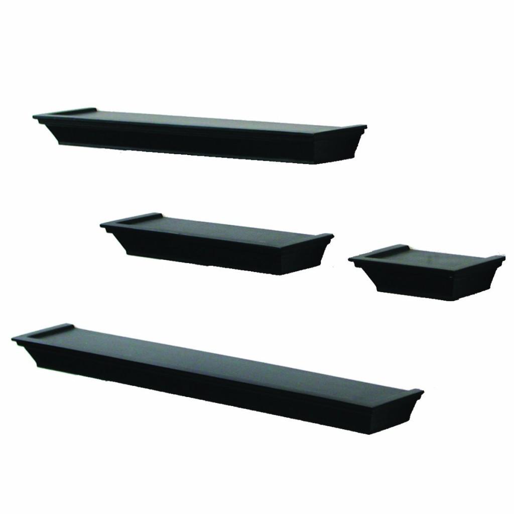 Black Floating Corner Shelves