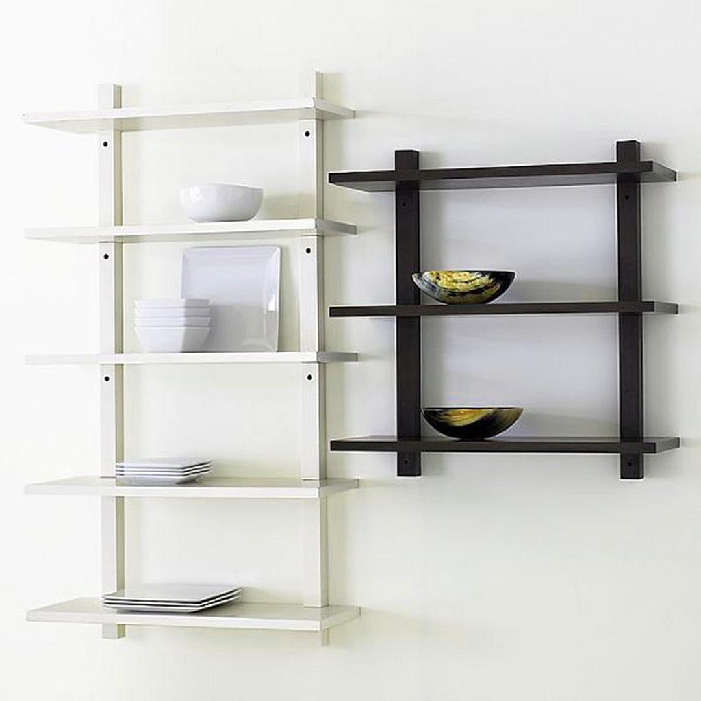 Black Wood Wall Shelves