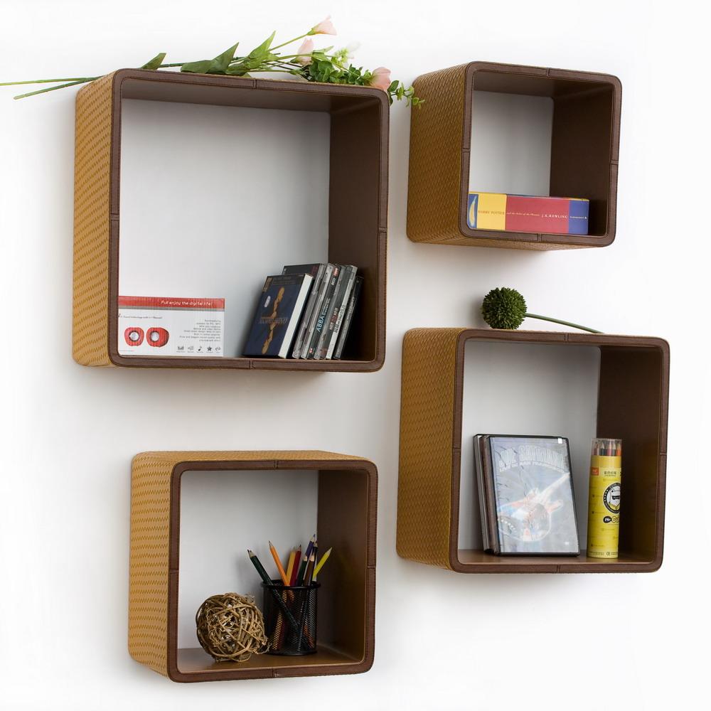 Homemade Floating Shelves