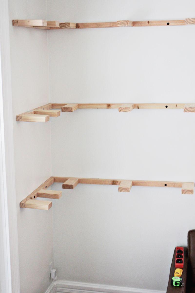 how to hang floating shelves decor ideasdecor ideas. Black Bedroom Furniture Sets. Home Design Ideas