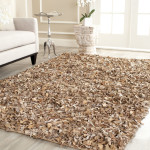Leather Shag Area Rug