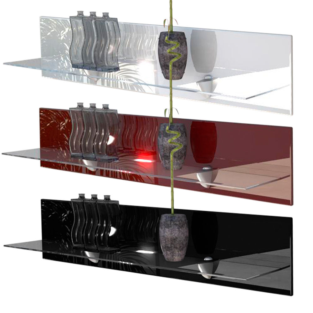 Lighted Floating Shelves
