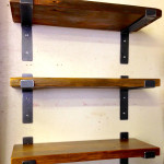 Reclaimed Wood Wall Shelves