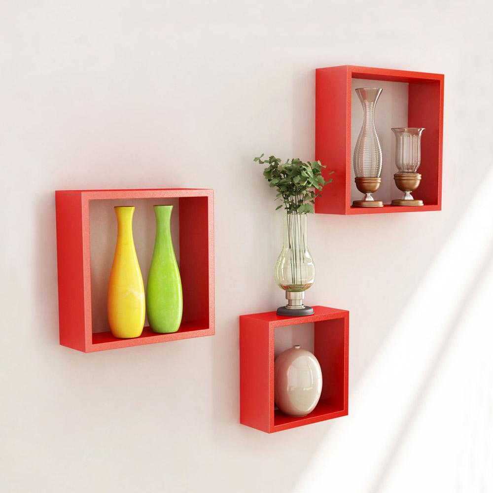 Wall mounted cube shelves decor ideasdecor ideas for Decoration murale one piece