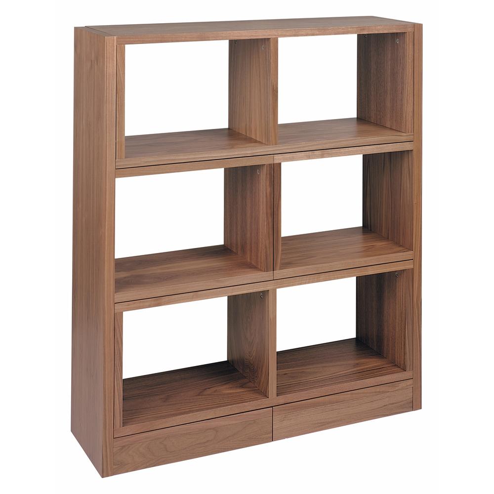 Walnut Floating Shelves