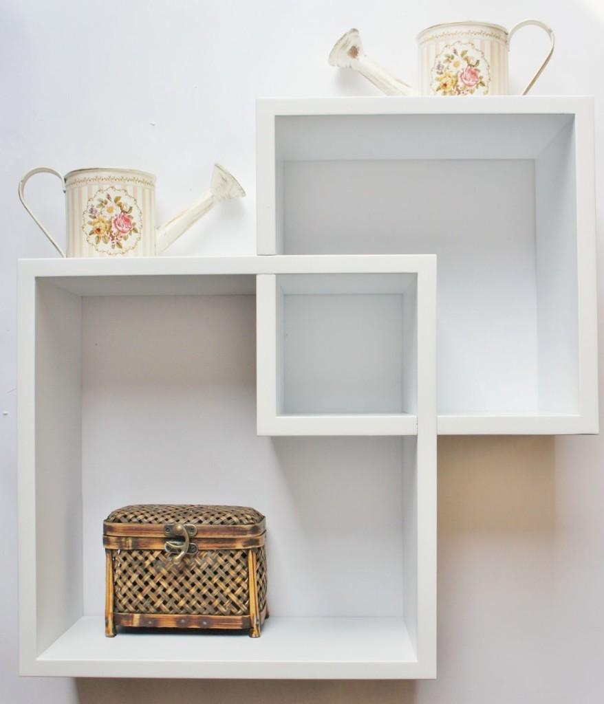White floating shelves decor ideasdecor ideas for Off the shelf cabinets