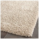 White Shag Area Rug