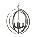 Black Plug In Chandelier