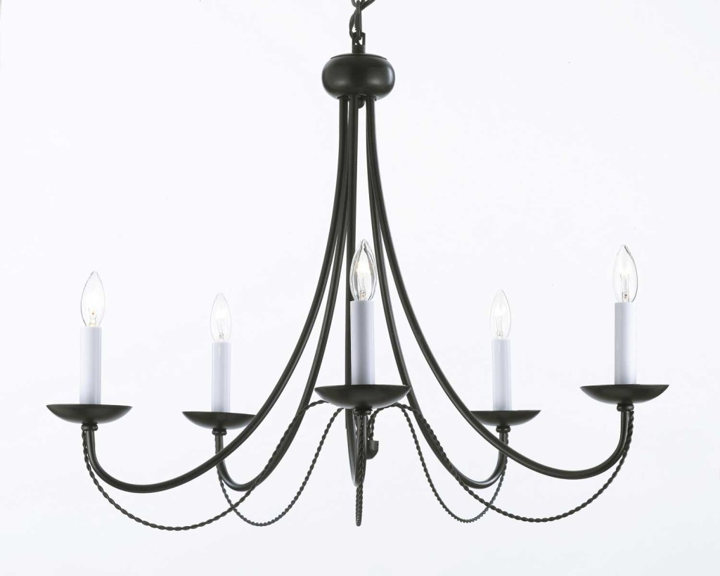 Black Wrought Iron Chandelier Decor IdeasDecor Ideas