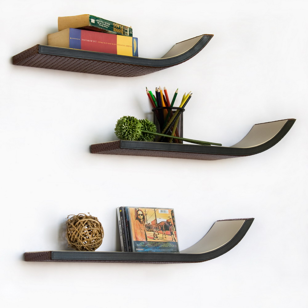 Curved Floating Shelf Glass