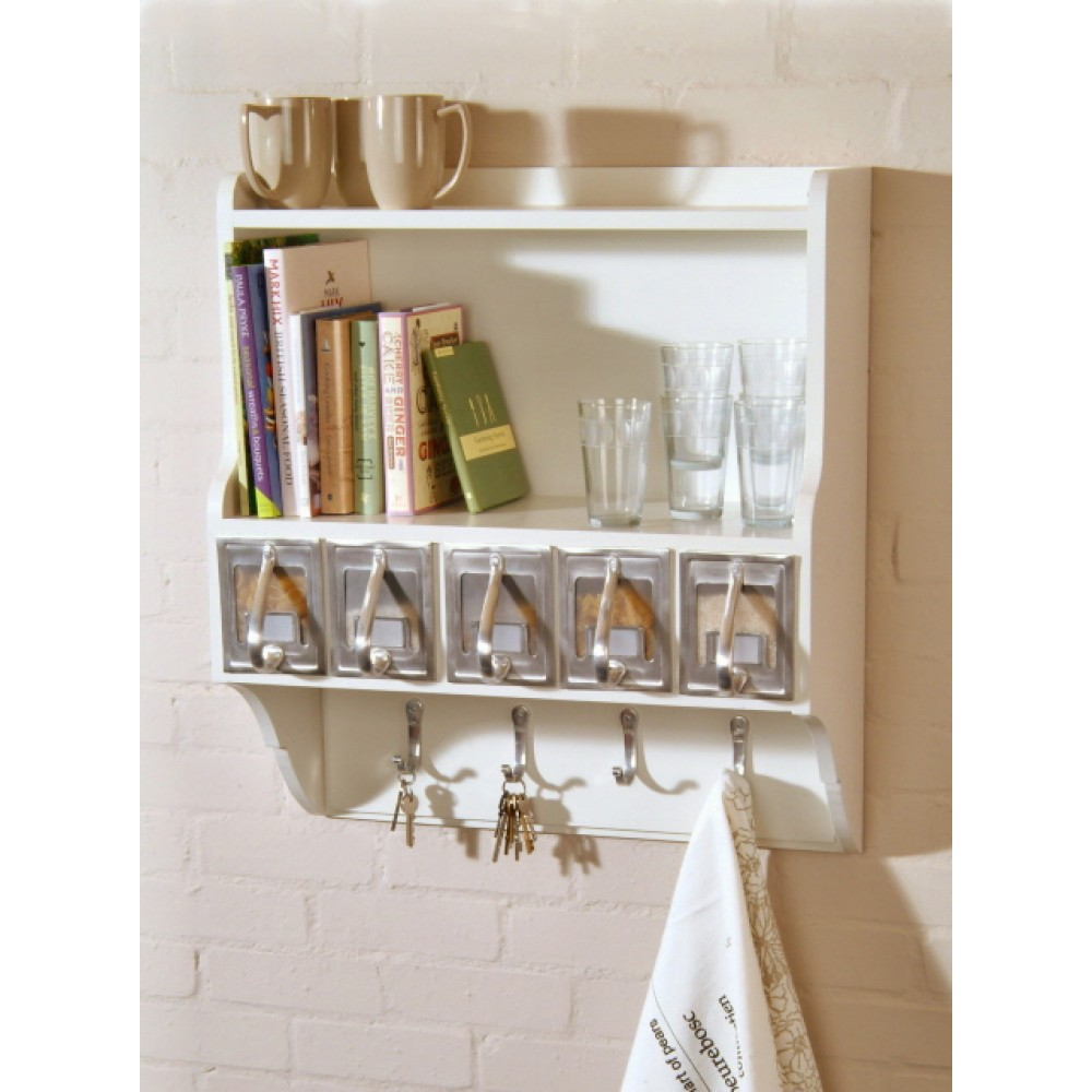 Decorative wall shelves with hooks decor ideasdecor ideas for Decoration shelf
