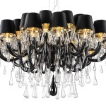 Large Black Chandelier