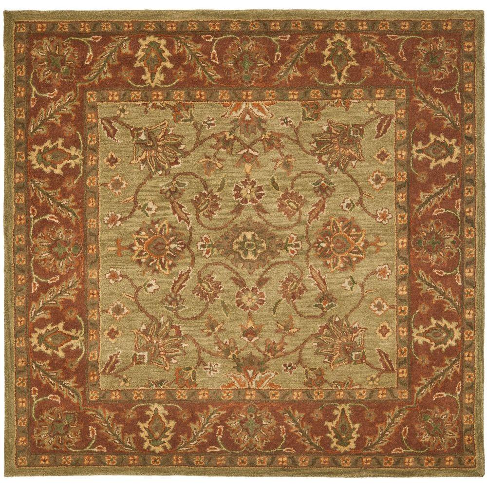 Square area rugs dover dv1 wheat square 10 ft area rug for Accent rug vs area rug