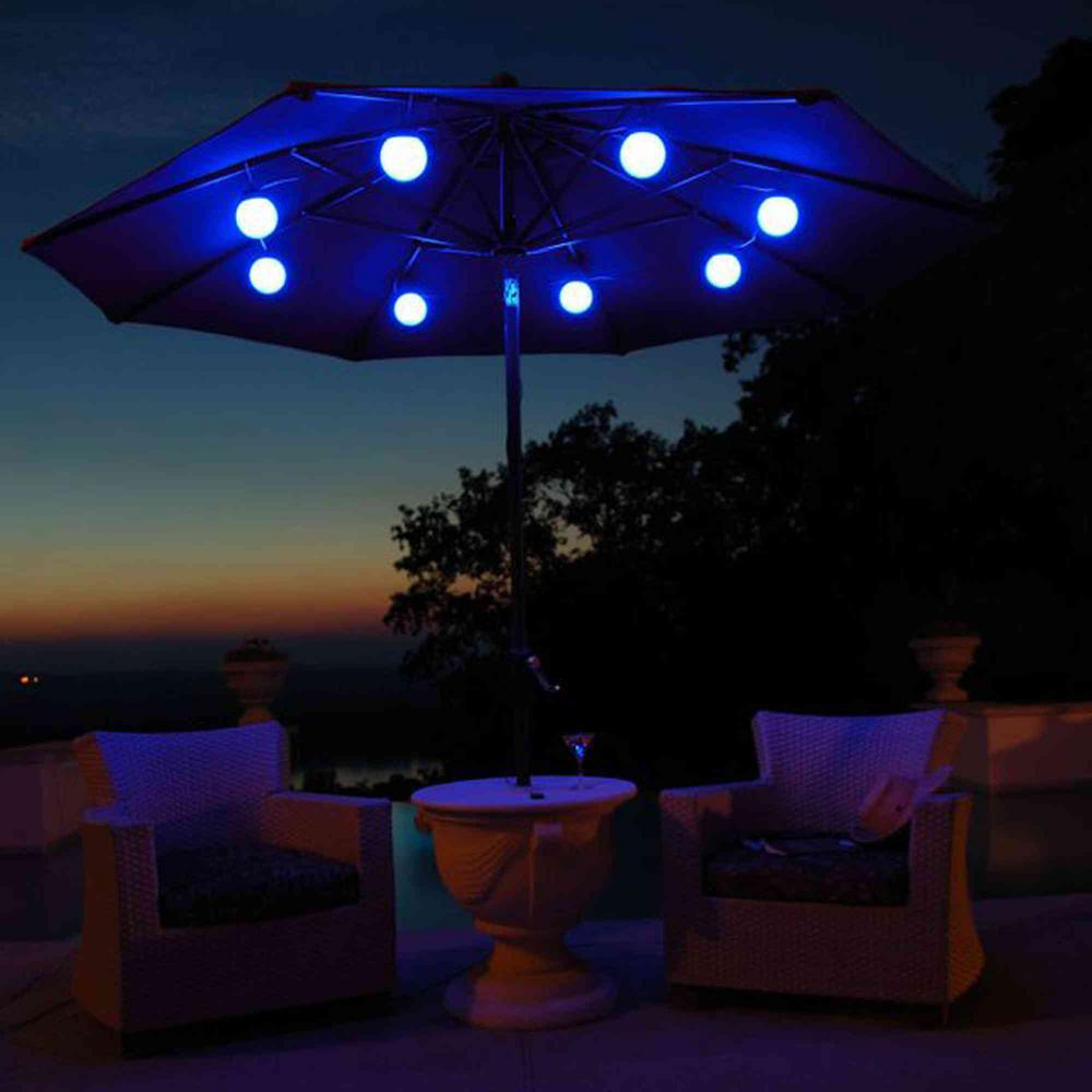 outdoor umbrella with solar lights decor ideasdecor ideas. Black Bedroom Furniture Sets. Home Design Ideas