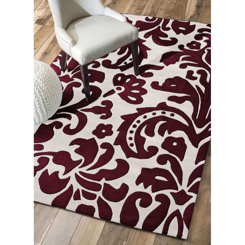 Black White And Red Area Rugs