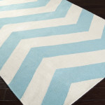 Gray And White Chevron Area Rug