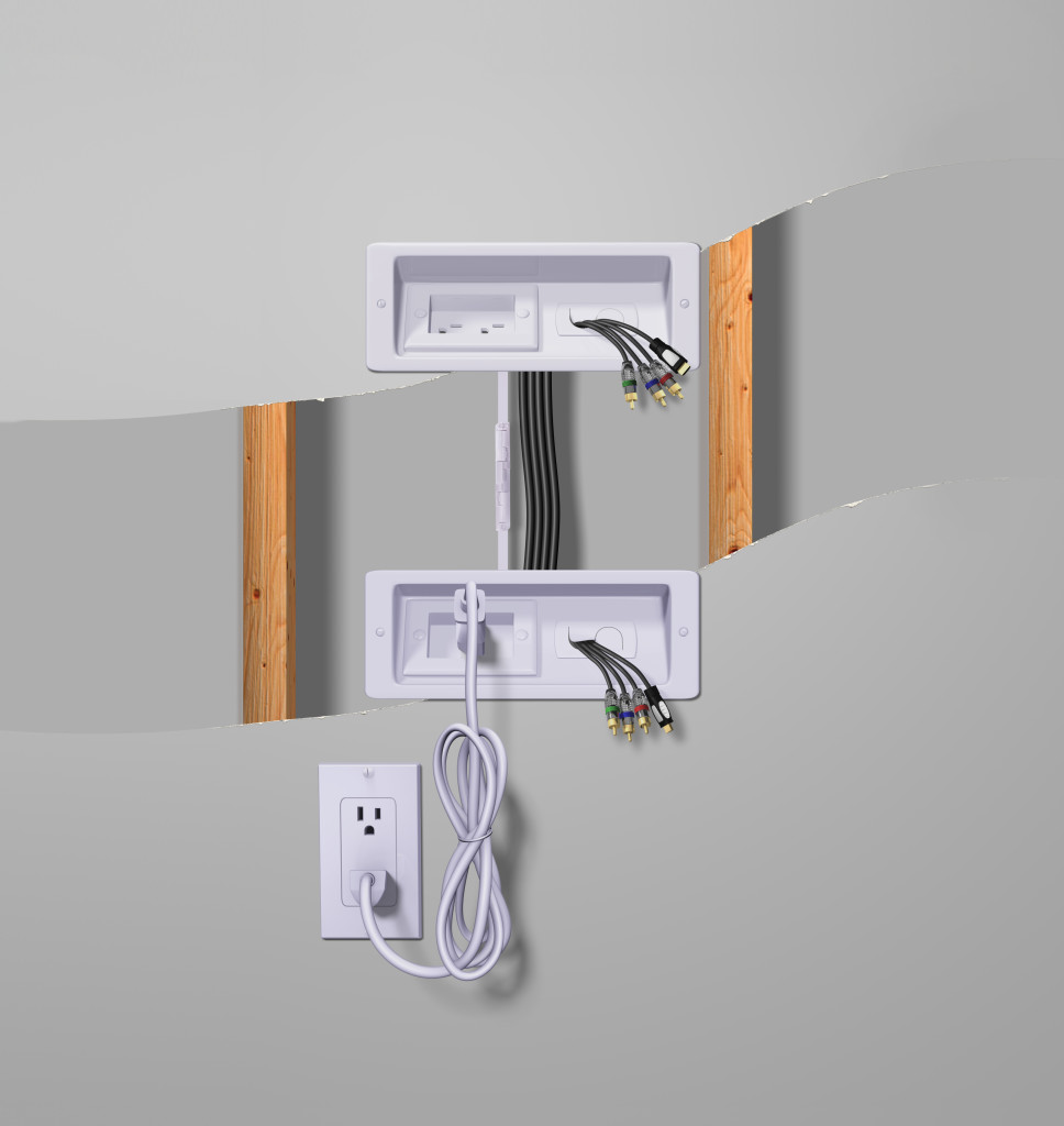 Cable covers for wall mounted tv decor ideasdecor ideas for How to hide electrical cords on wall