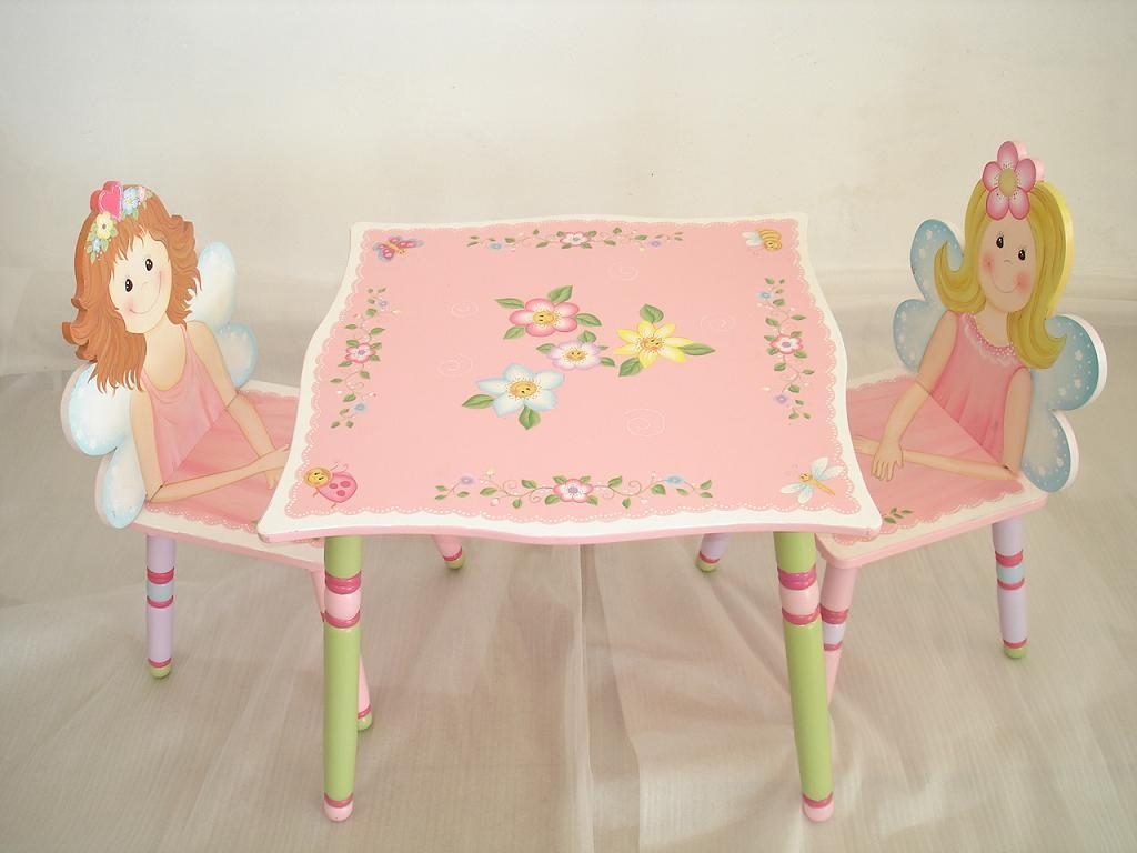 Girls Hand Painted Chairs