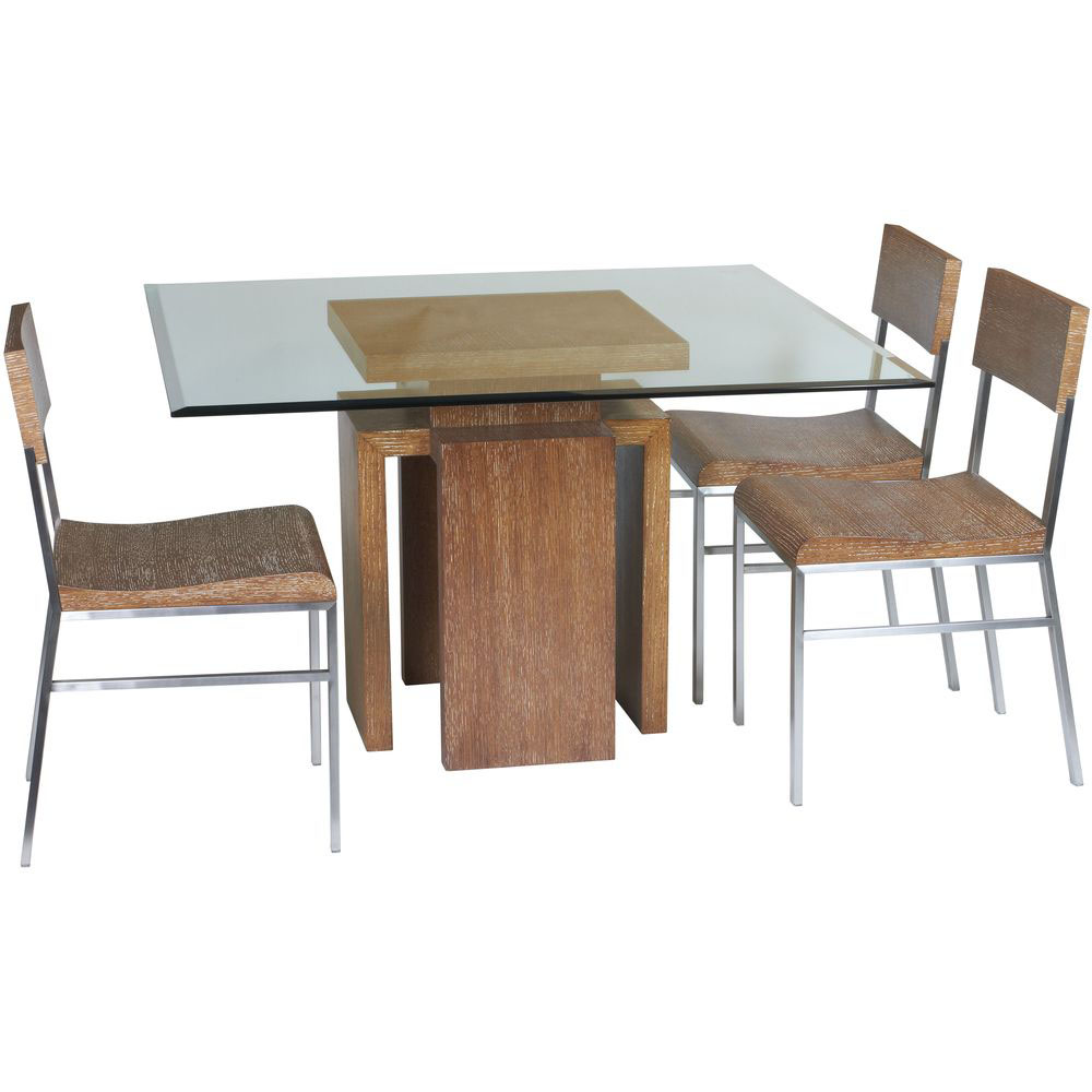 Glass top dining table set 4 chairs decor ideasdecor ideas for Four chair dining table